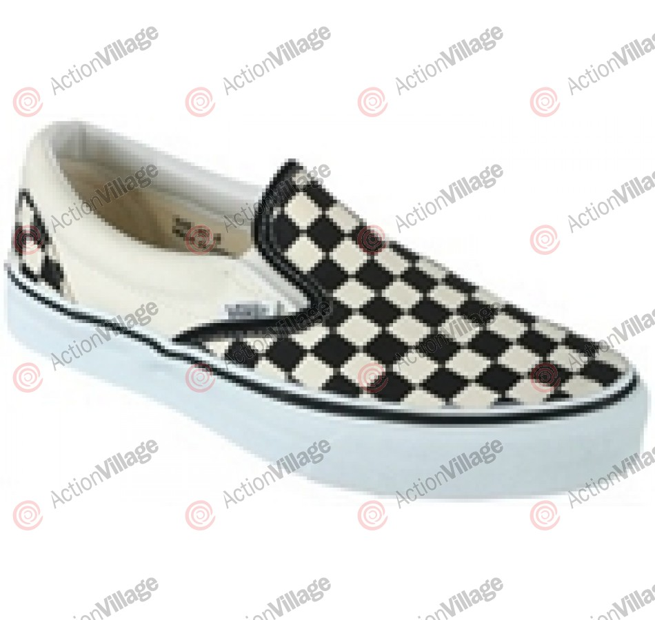 Vans Classic - Men's Shoes Black White Checkerboard / White