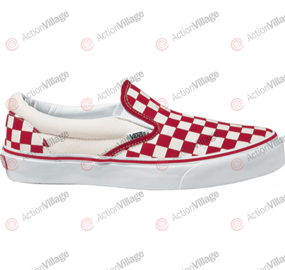 Vans Classic - Men's Shoes - Red White Checkerboard