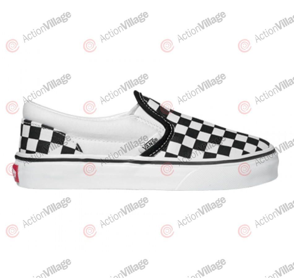 Van's Classic Slip-on - Kids' - Black / White small Checkerboard