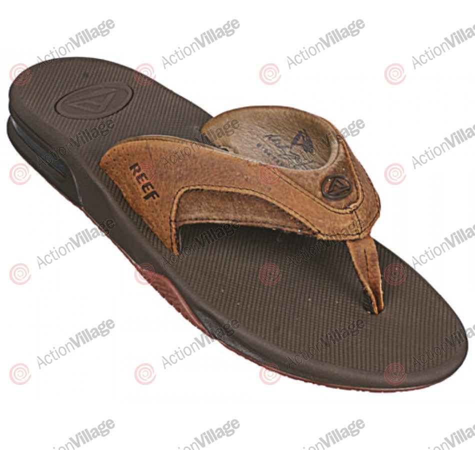 Reef Leather Fanning - Men's Sandals - Brown / Brown