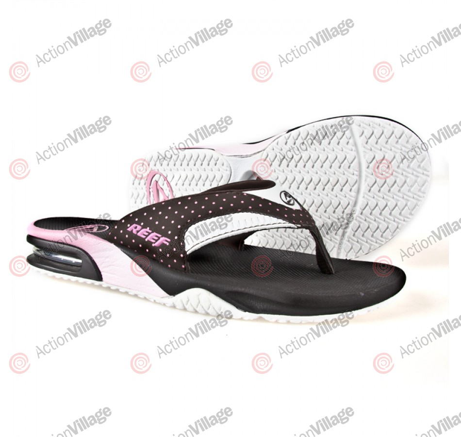 Reef Fanning - Men's Sandals - Brown/Pink/Dots