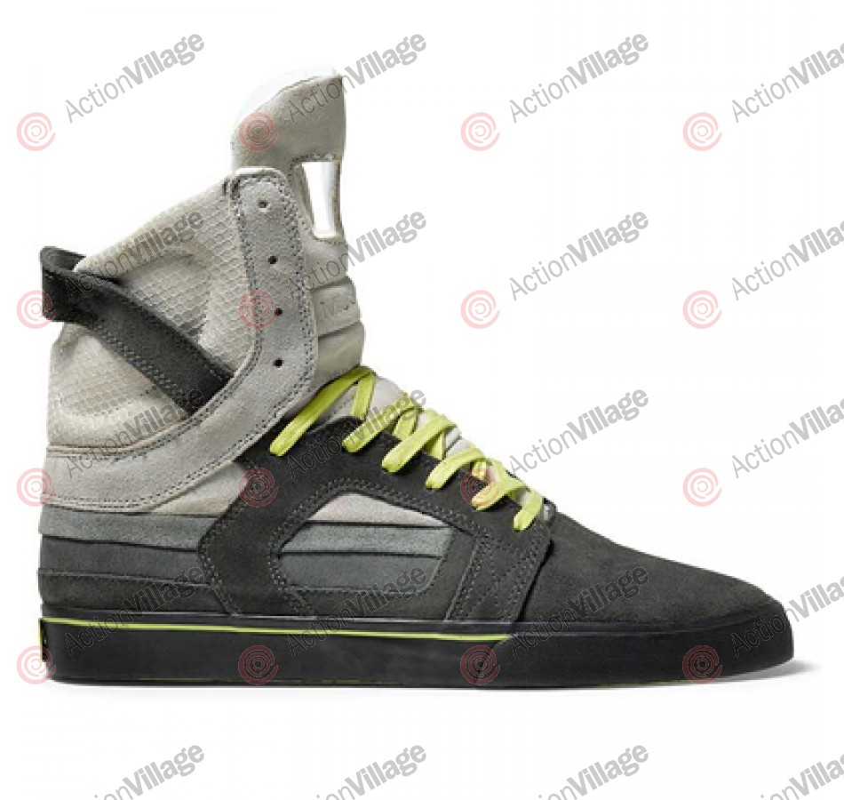 Supra Muska Skytop II - Men's Shoes Grey Gradient Suede / Neon