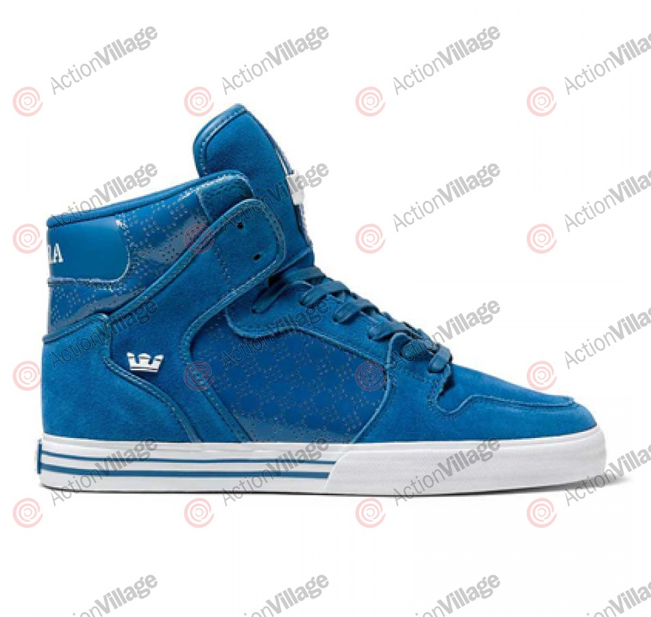 Supra Vaider - Men's Shoes Blue Suede / Patent Blue