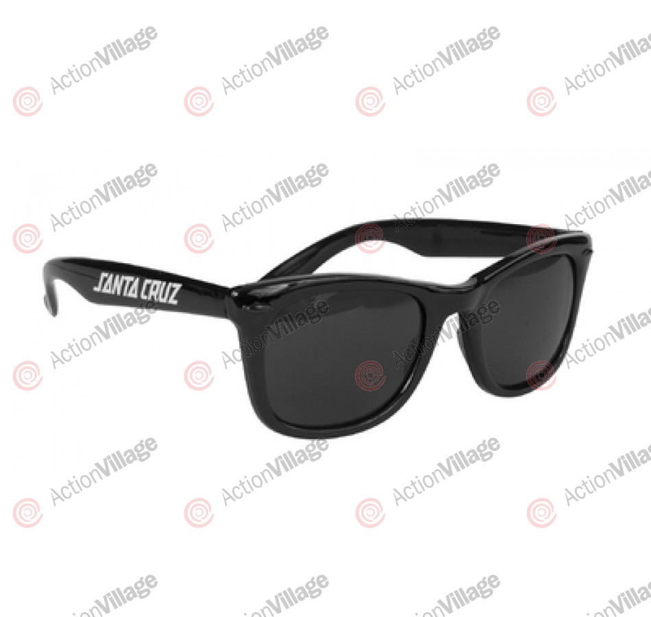 Santa Cruz Strip Shades Sunglasses Black OS Unisex - Sunglasses