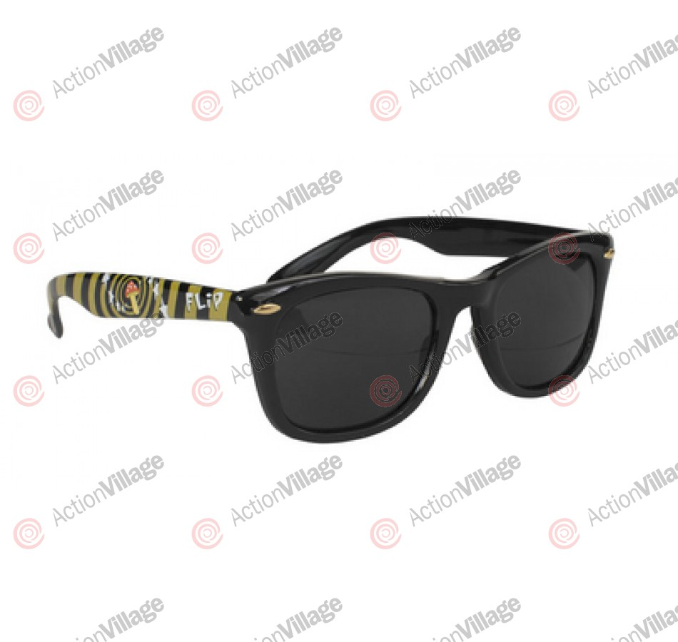 Flip Mushroom Sunglasses Black OS Unisex - Sunglasses