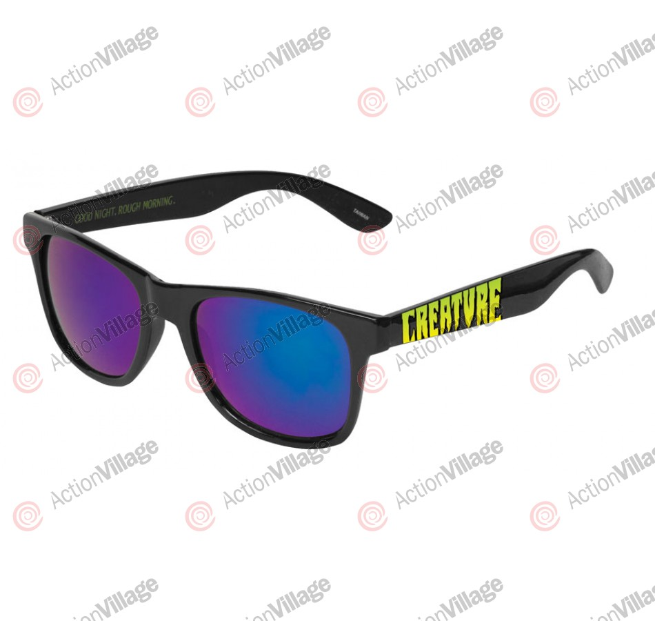 Creature Good Night/ Rough Morning - Black OS Unisex - Sunglasses