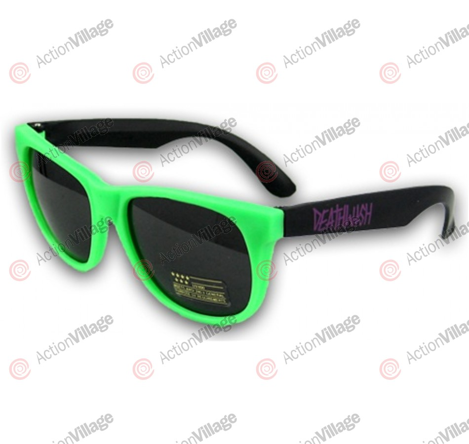 Deathwish - Sunglasses - Green / Purple