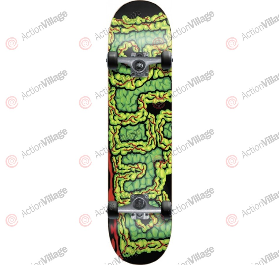 Blind Brain Drain - Black/Green - 8.0 - Complete Skateboard