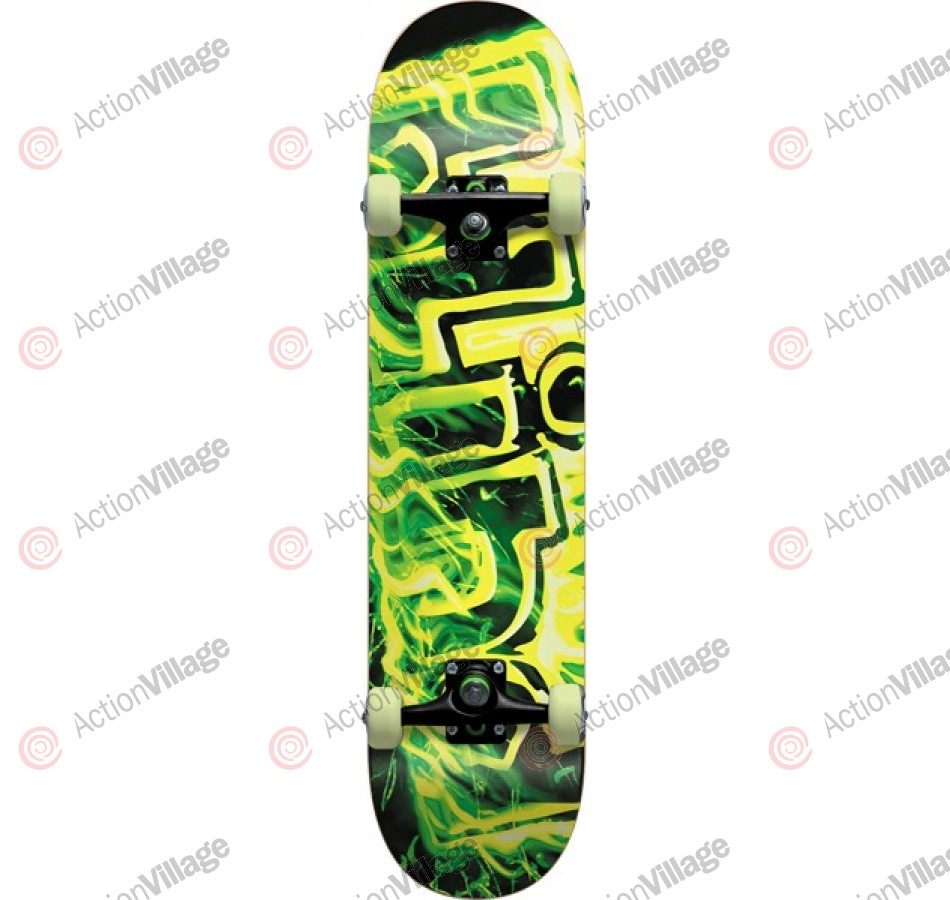 Blind GITD Fire Complete - Black/Green - 7.7 - Complete Skateboard