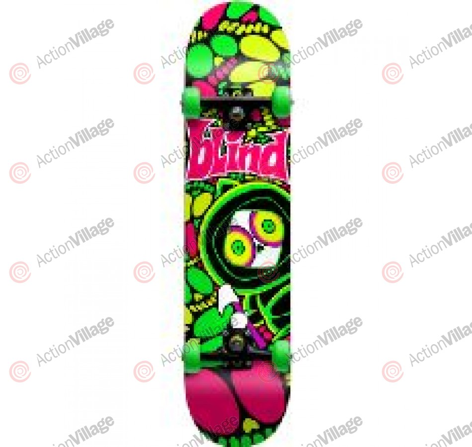 Blind Tripped Out Kenny - Green/Pink - 7.6 - Complete Skateboard