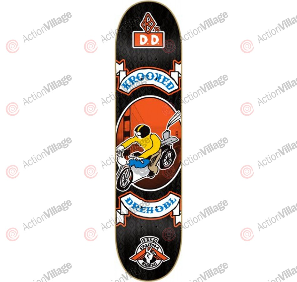 Krooked Drehobl Fantom Rider - Black - 8.18 - Skateboard Deck