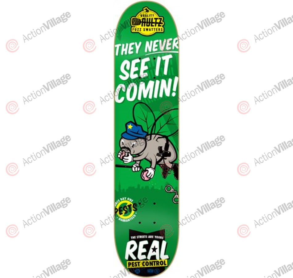 Real Aultz Pest Control - Green - 8.18 - Skateboard Deck