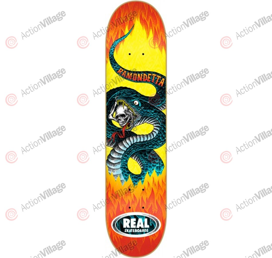 Real Ramondetta Slither - Yellow/Orange - 8.5 - Skateboard Deck