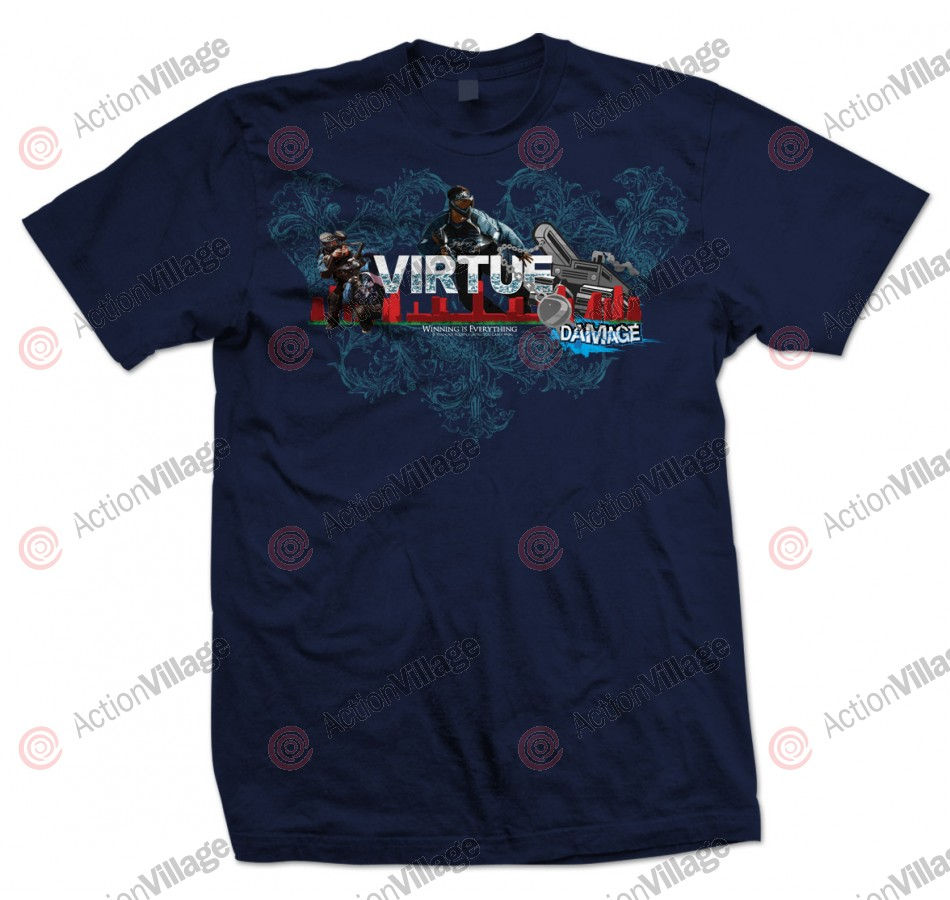 2012 Virtue Pro Series Damage Winning T-Shirt - Navy