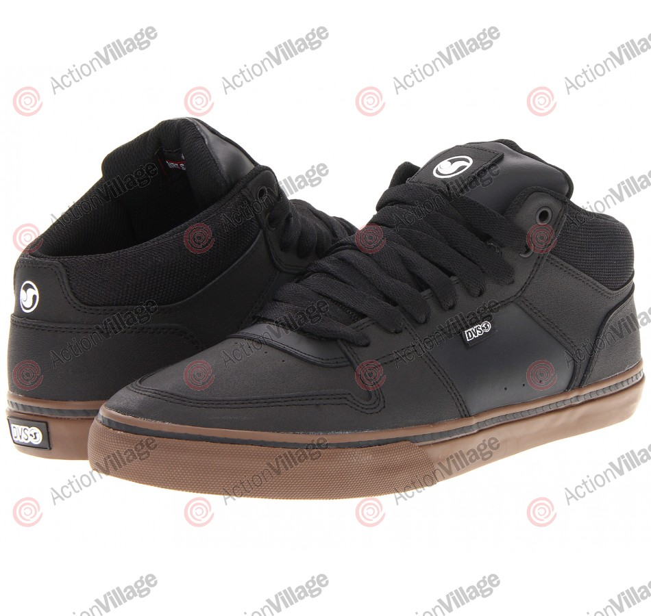 DVS Clip Dirt Series - Black High Abrasion Leather - Skateboard Shoes