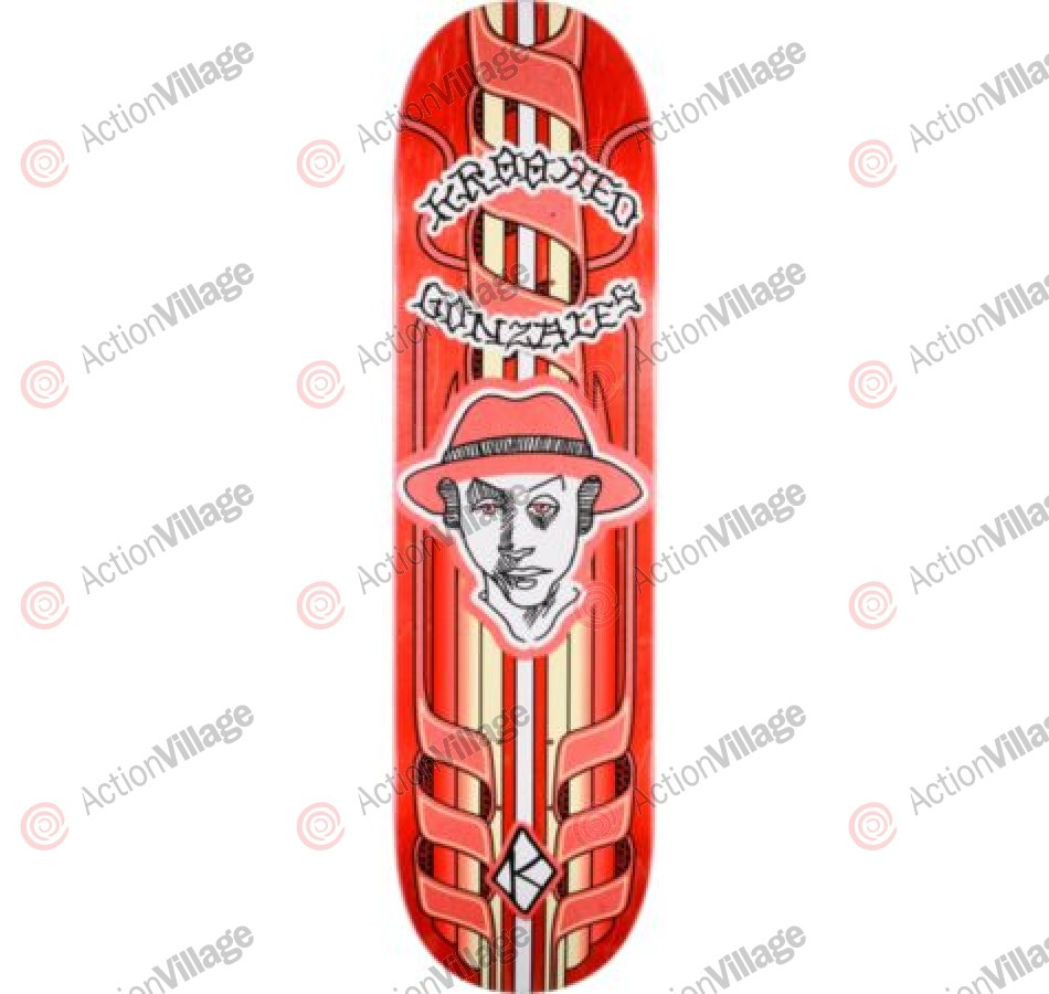 Krooked Gonz Magestiks - Red - 8.25 - Skateboard Deck