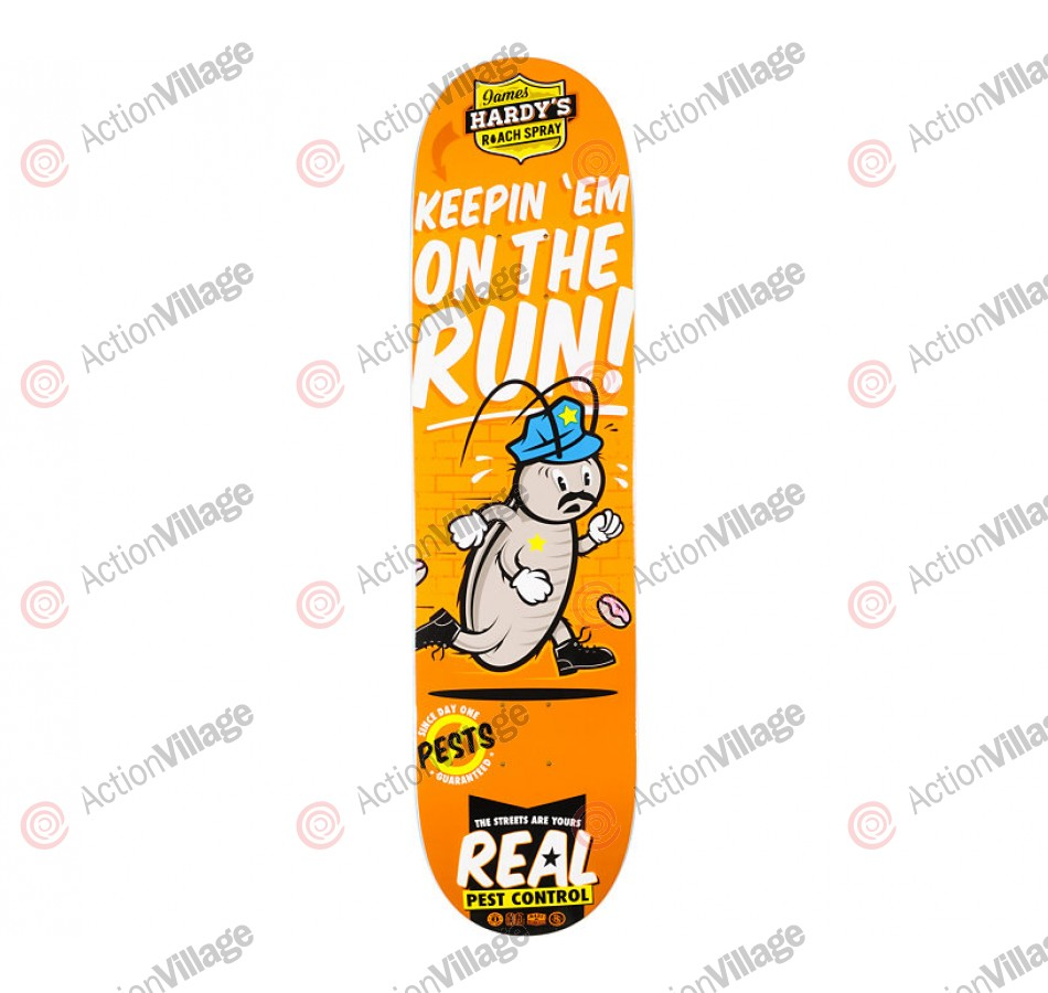 Real Hardy Pest Control - Orange - 8.06 - Skateboard Deck