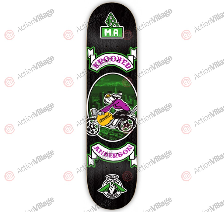 Krooked Anderson Fantom Rider -Black - 8.25 - Skateboard Deck