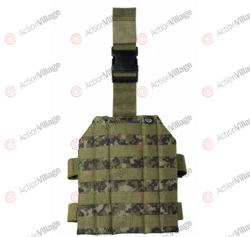 BT Thigh Rig Paintball Harness - Woodland Digi
