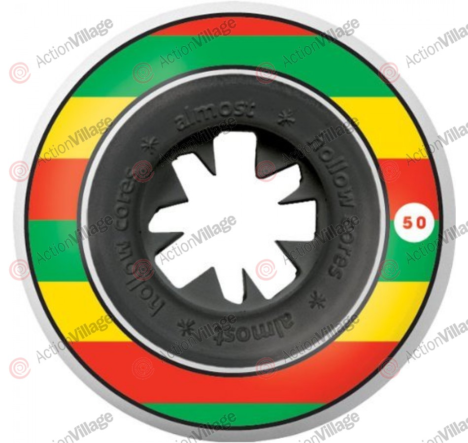 Almost Rasta Bandwagon HC - Rasta - 52mm - Skateboard Wheels