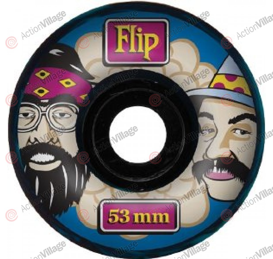 Flip 53mm Cheech and Chong Swirl Blue - Skateboard Wheels