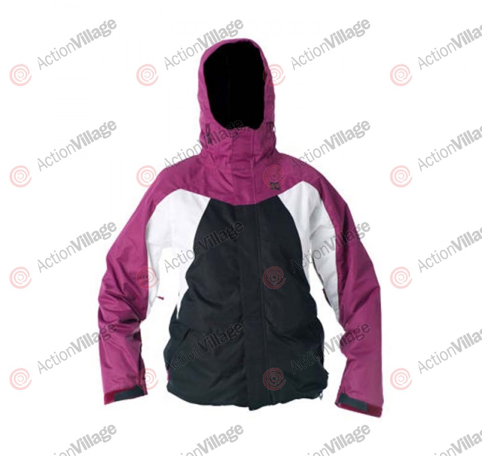 DC Fuse 2011 - Boysenberry / Black / White - Snowboarding Jacket - Medium