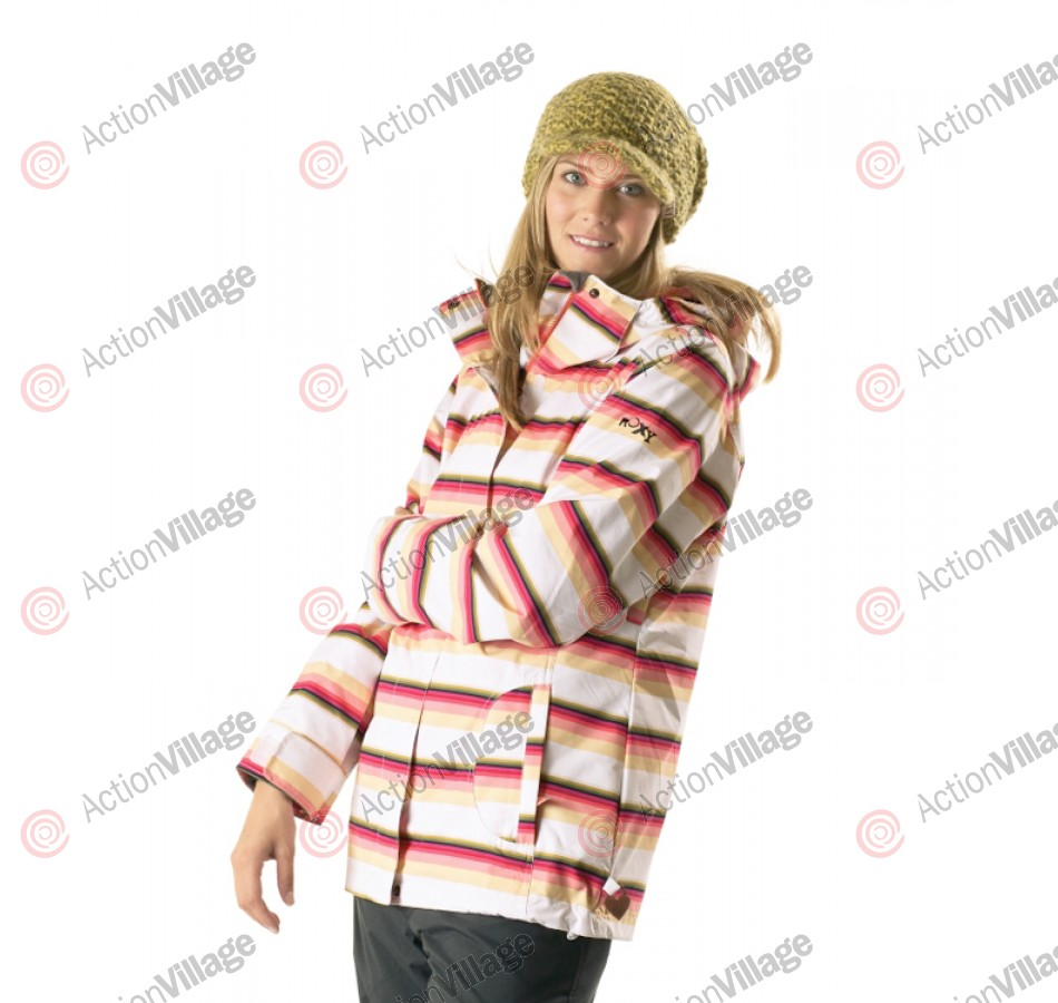 Roxy Jet Insulated - White Print - Snowboarding Jacket
