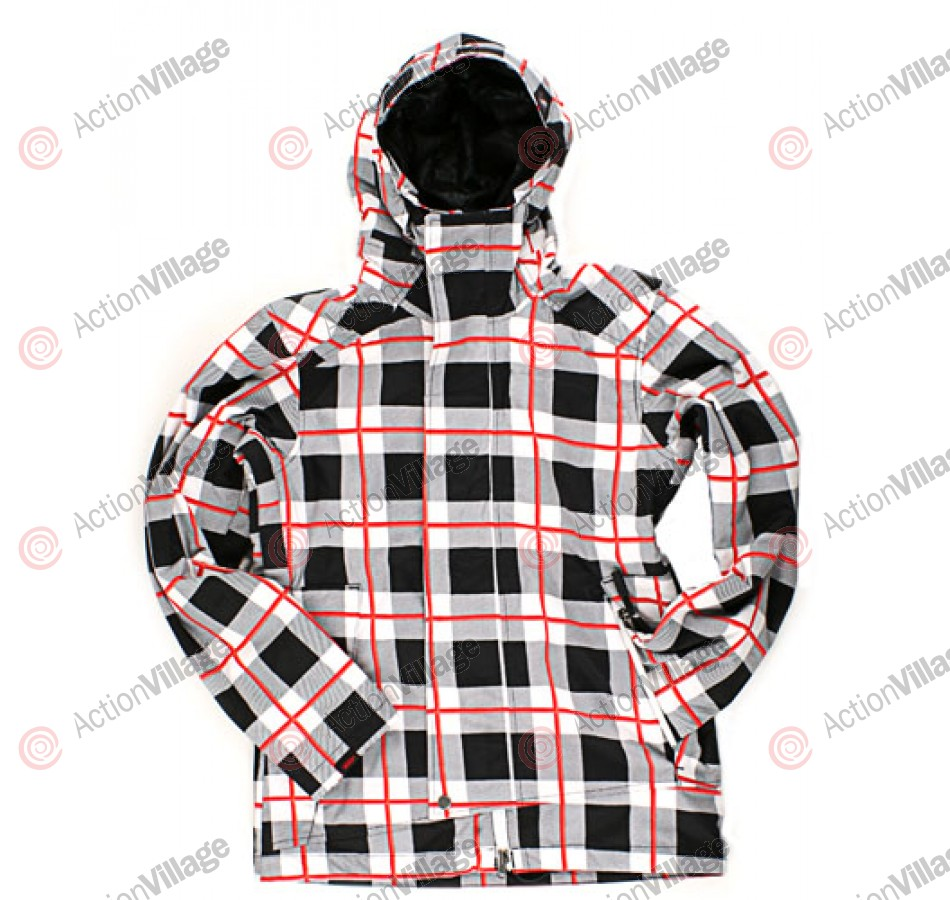Vans Sedaris - Black Dress Plaid - Snowboarding Jacket - Extra Small
