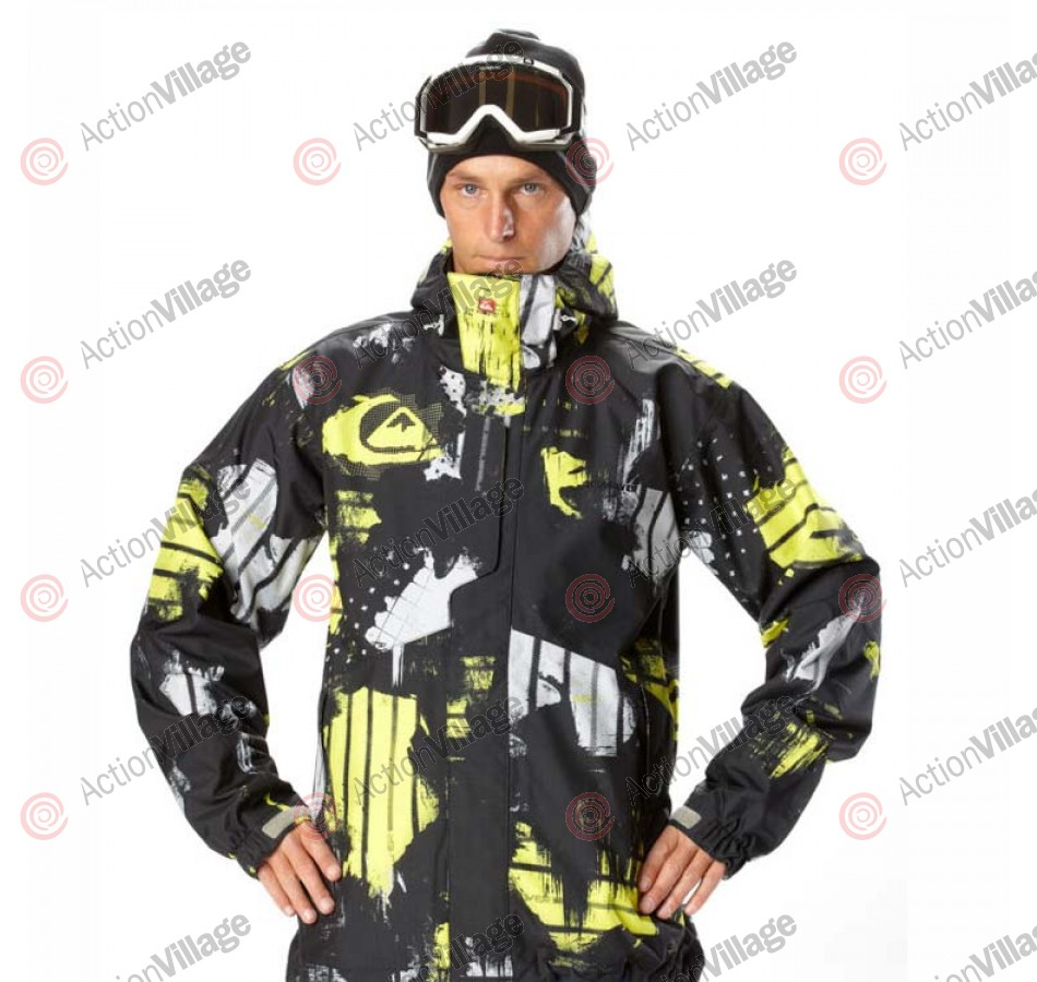 Quiksilver Tracker Shell - Yellow - Snowboarding Jacket