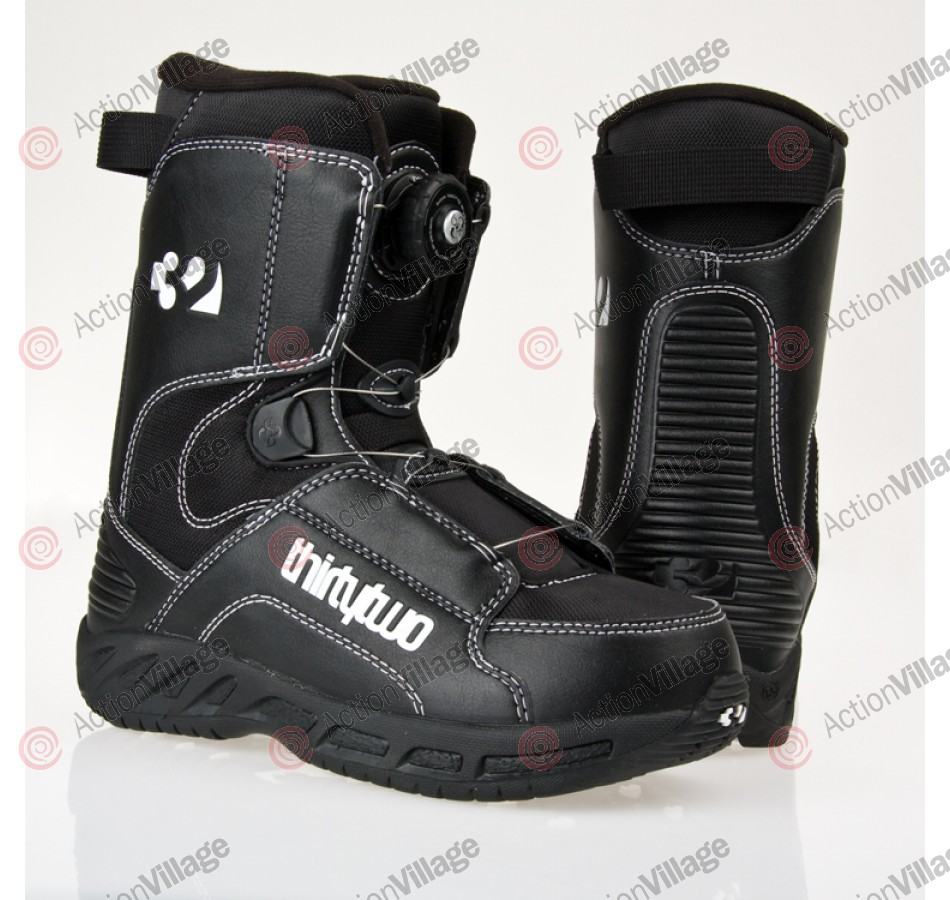 ThirtyTwo Boa 2010 - Youth's Black / White / Black Snowboard Boots