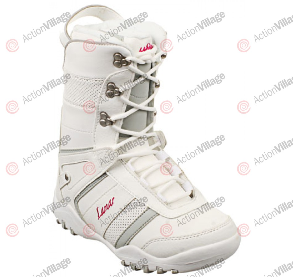 Lamar Justice 09 - Girl's Youth White / Grey Snowboard Boots