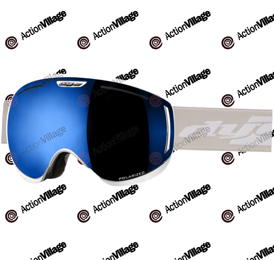 Dye CLK White Snowboard Goggles w/ 2 Additional Lenses - Blue Ice Polarized