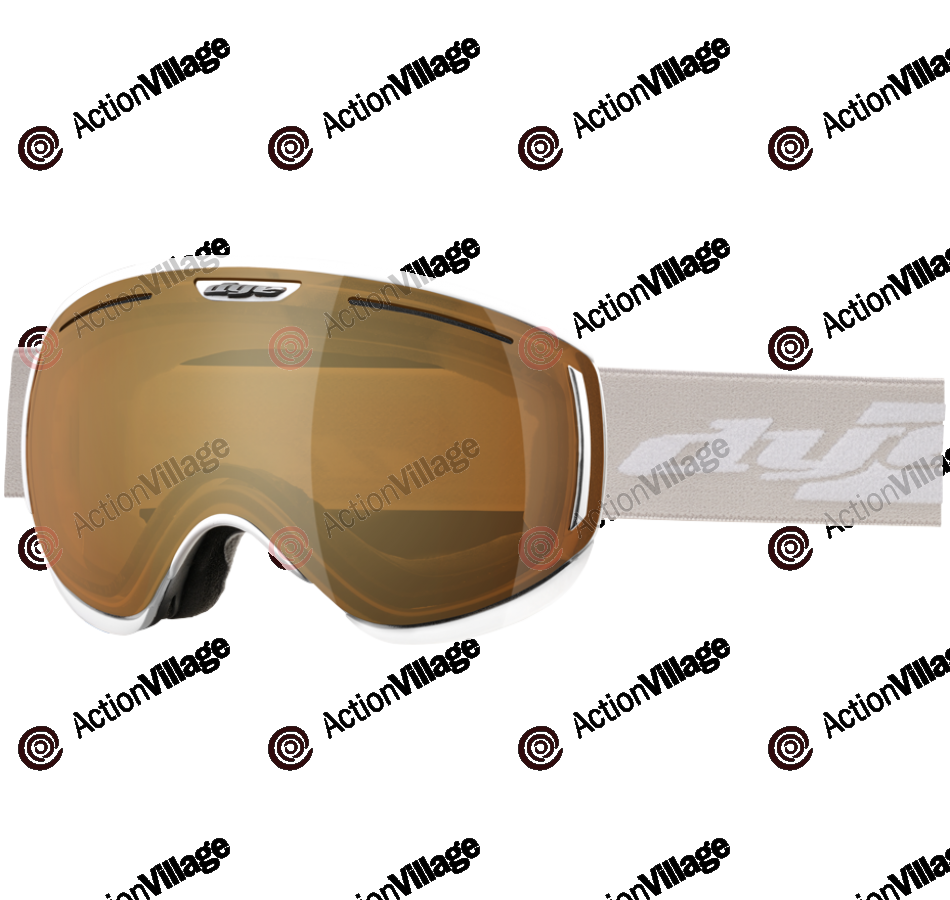 Dye CLK White Snowboard Goggles w/ Additional Lens - Bronze Fire