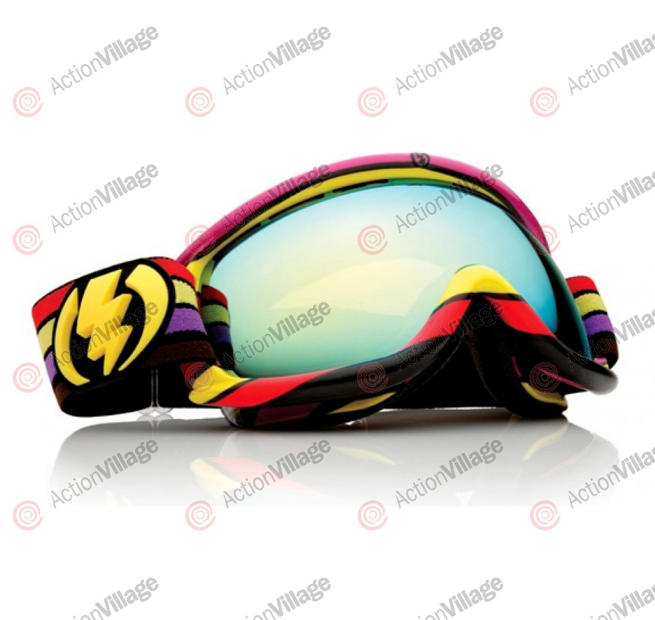 Electric EG.5s 10 - Sunset Stripe Frame / Gold Lens - Women's Snowboard Goggles