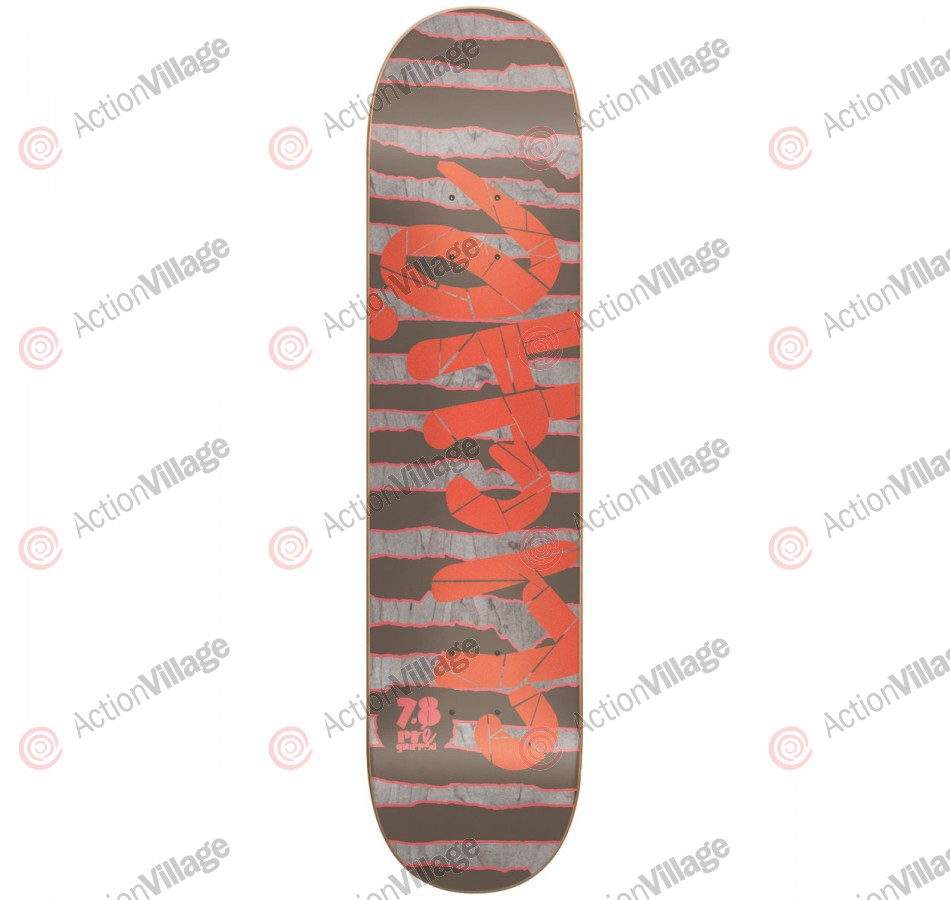 Cliche Stripes PG - Red/Grey - 7.8 - Skateboard Deck