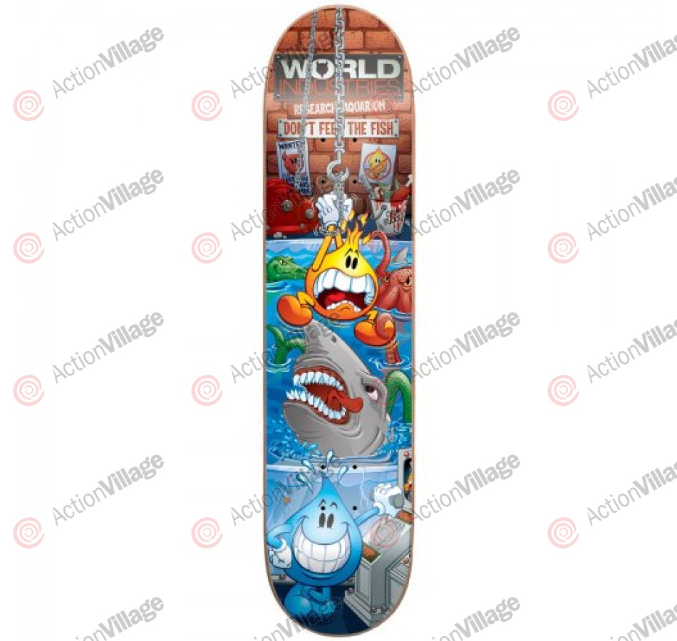 World Industries Water Torture Mini - Blue/Red - 7 - Skateboard Deck