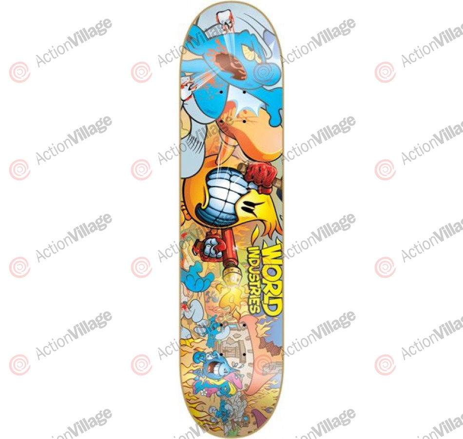 World Industries Blue Massacre - Yellow - 7.5 - Skateboard Deck