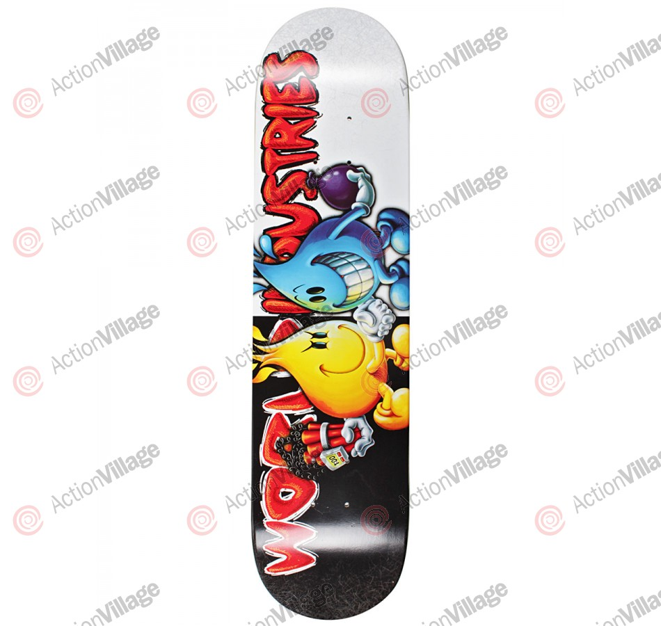 World Industries Flame vs Willy - Black/White - 7.6 - Skateboard Deck