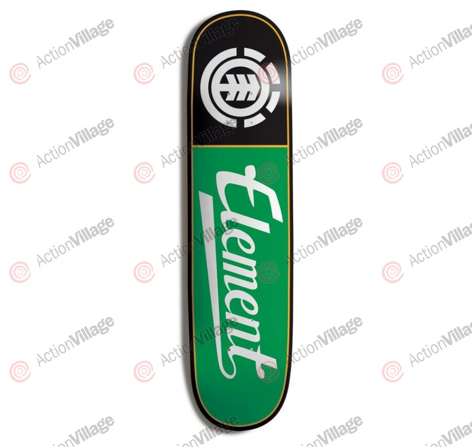 Element 20yr Script PP - Black/Green - 8.0 - Skateboard Deck