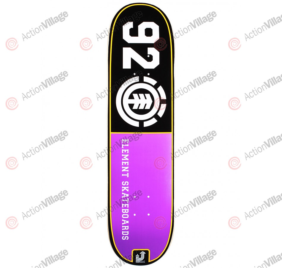 Element Highlight 92 - Black/Purple - 8.0 - Skateboard Deck