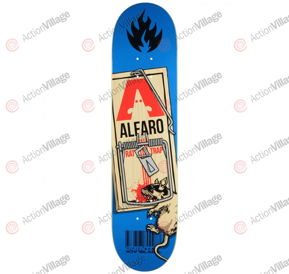 Black Label Alfaro Rat Trap - Blue - 8.12 - Skateboard Deck