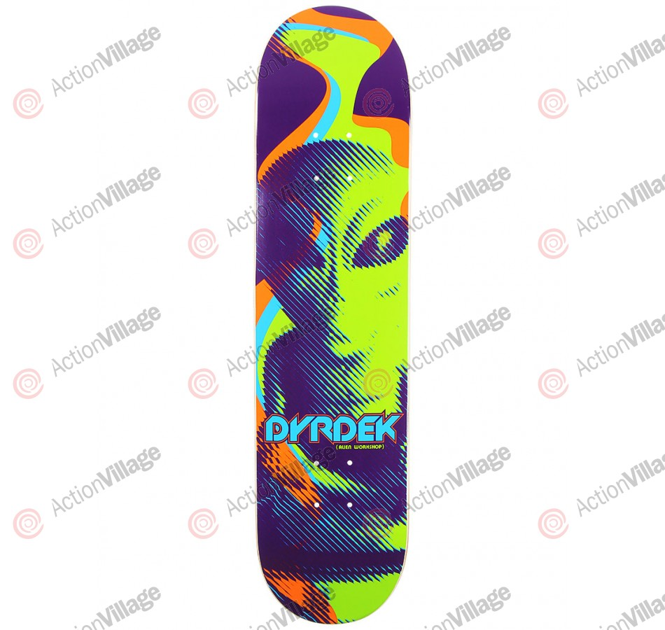 Alien Workshop Dyrdek Overlord SM - Green/Purple - 7.75 - Skateboard Deck