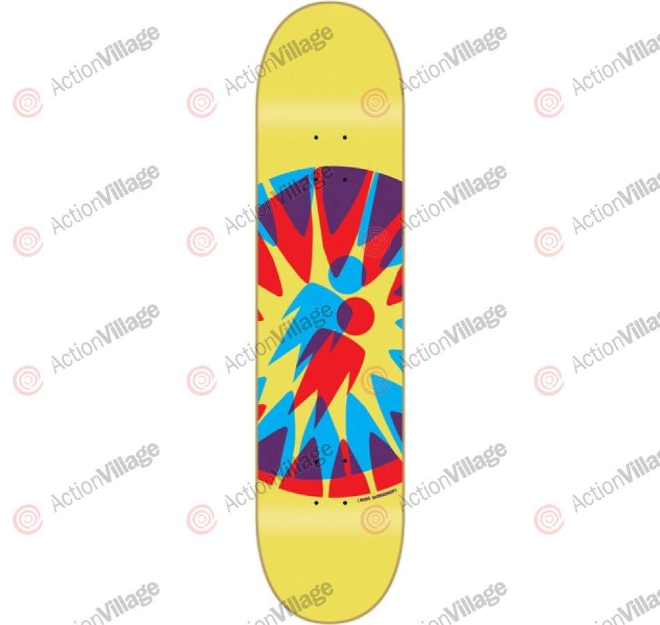 Alien Workshop FF Starburst II Small - 7.75 - Yellow - Skateboard Deck