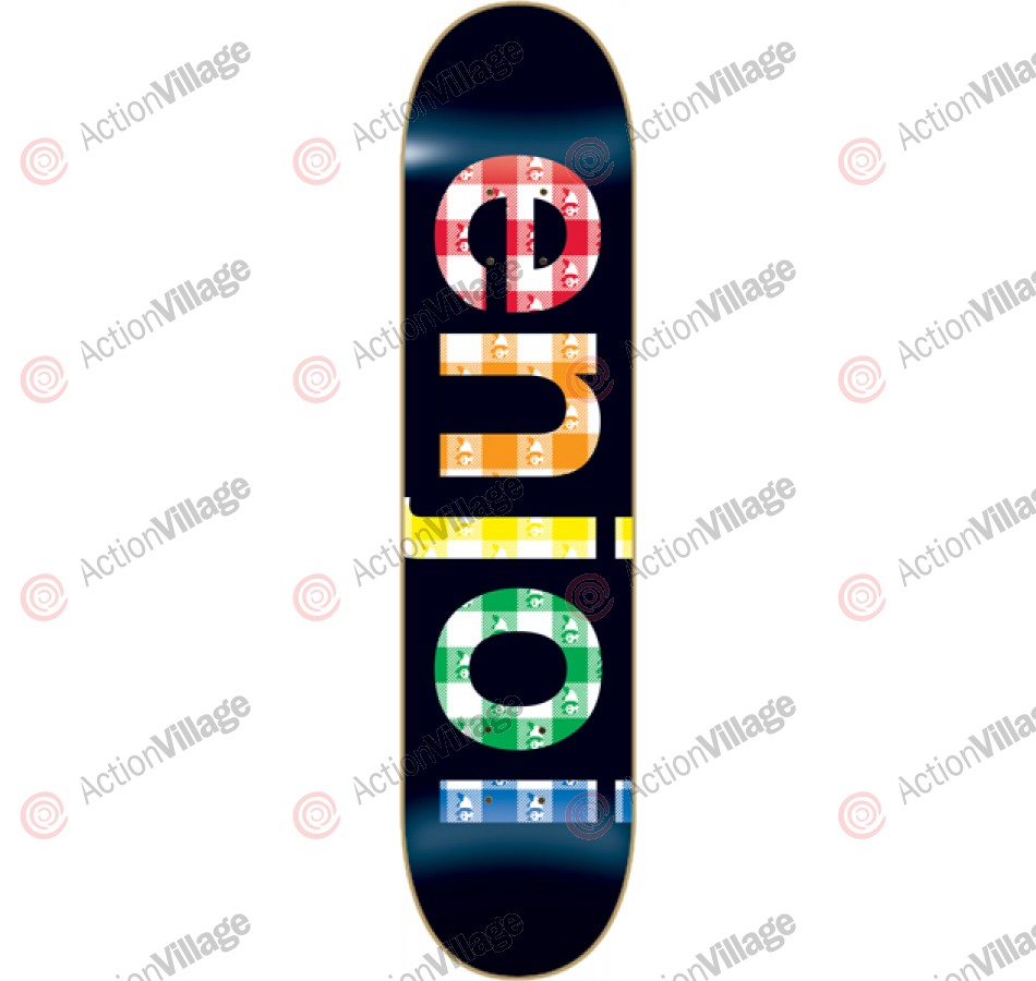 Enjoi Spectrum Gingham R7 - Black - 8.25 - Skateboard Deck