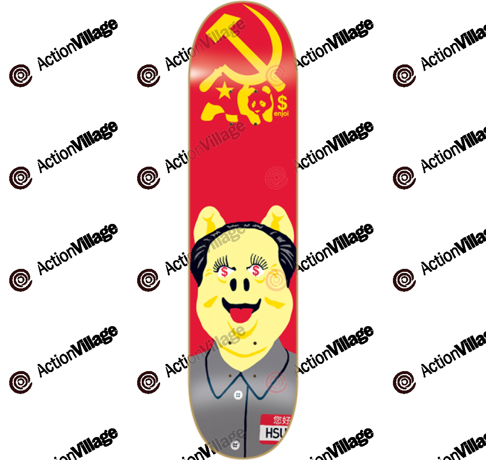 Enjoi Communist Pig EOS - Jerry Hsu - 8.25 - Skateboard Deck