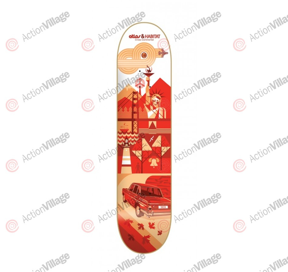 Habitat Cross Continental - Red - 8.25 - Skateboard Deck