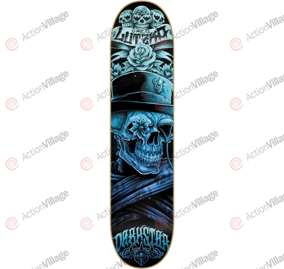 Darkstar Muerte R7 Greg Lutzka - Black/Blue - 8 - Skateboard Deck