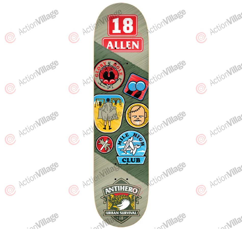 Anti-Hero Allen Demerit - Green/Grey - 8.25 - Skateboard Deck