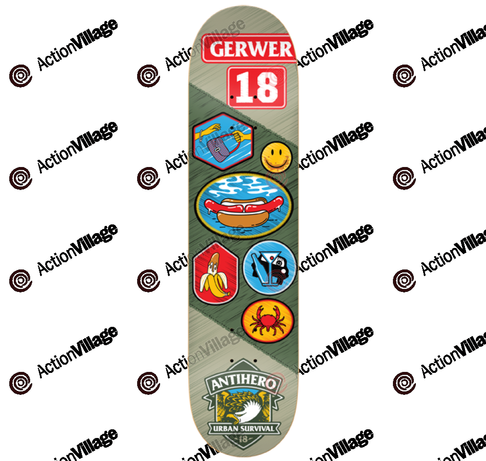 Anti-Hero Gerwer Demerit - Green/Grey - 8.12 - Skateboard Deck