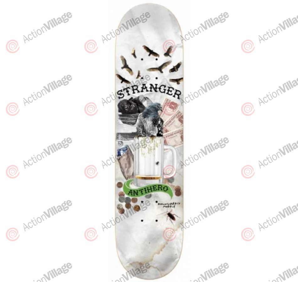Anti-Hero Stranger Vagrant - Grey - 8.38 - Skateboard Deck